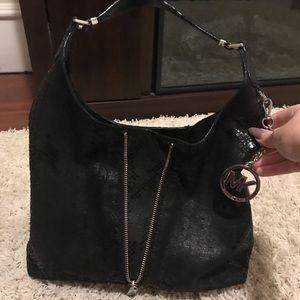 Michael Kors Black Suede Bag!